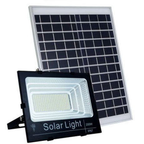 Đèn Pha Năng Lượng Mặt Trời 200W